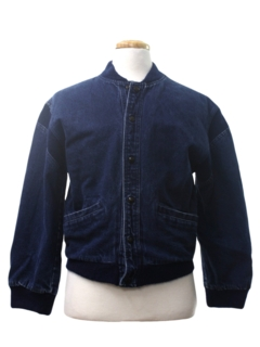 1990's Mens Ball Style Denim Jacket