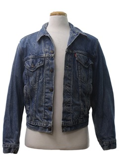 1980's Mens Grunge Denim Jacket