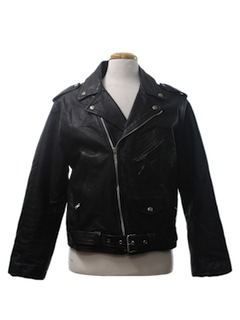 1980's Mens Leather Motorcycle Biker Jacket