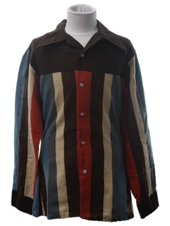 1970's Mens or Boys Flannel Disco Shirt