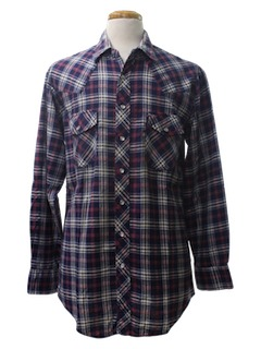 1990's Mens Wicked 90s Western Style Grunge Flannel Shirt