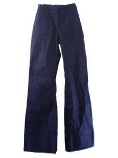 1980's Womens Navy Issue Bellbottom Jeans Pants