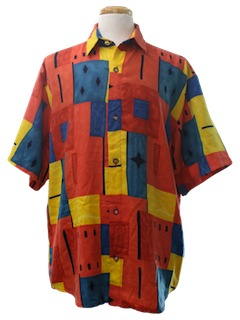 1990's Mens Print Club/Rave Shirt