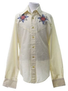1970's Mens or Boys Western Hippie Shirt
