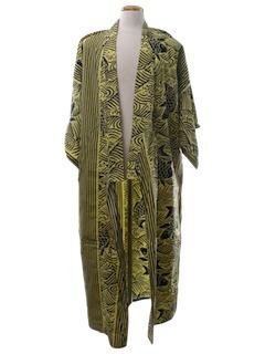 1980's Unisex Hippie Kimono Style Jacket