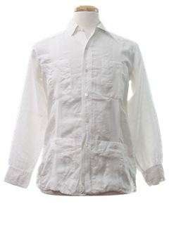 1960's Mens Guayabera Shirt