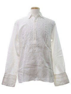 1970's Mens Mexican Wedding Style Hippie Shirt