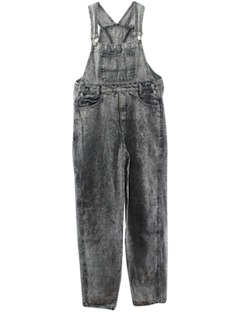 1980's Mens Totally 80s Acid Washed Denim Overalls