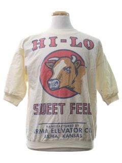 1980's Unisex Feed Sack Shirt