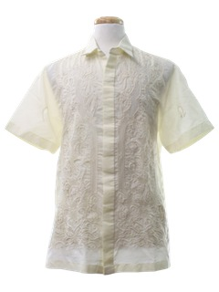 1980's Mens Sheer Hippie Shirt