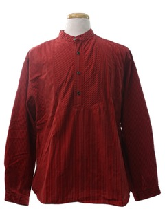 1990's Mens Reproduction 1800s Pioneer Style Western Shirt