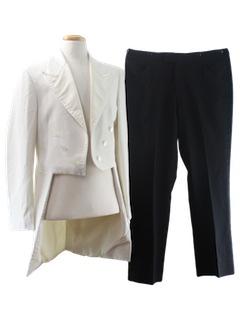 1970's Mens Tails Tuxedo Suit