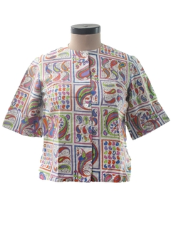 1960's Womens Paisley Shirt
