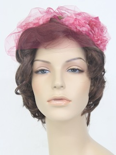 1960's Womens Accessories - Floral Hat
