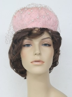 1960's Womens Accessories - Feather Hat