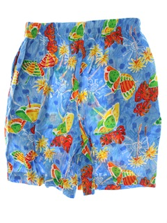 1980's Womens Hawaiian Shorts