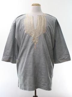 1980's Unisex Dashiki Style Hippie Shirt