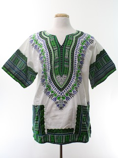 1980's Unisex Dashiki Shirt