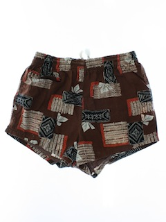 1960's Mens Hawaiian Mod Swim Shorts