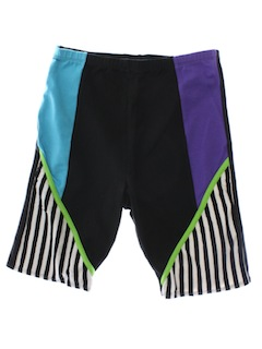 1980's Womens Totally 80s Aerobic Shorts