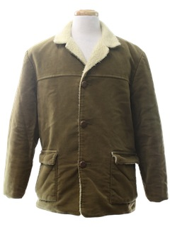 1980's Mens Car Coat Jacket