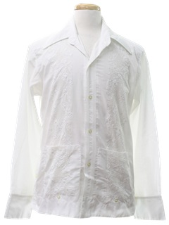 1970's Mens Guayabera Shirt