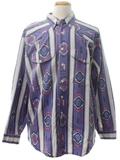 1990's Mens Wicked 90s Western Style Shirt
