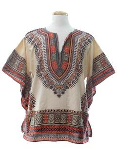 1970's Unisex Hippie Dashiki Style Shirt