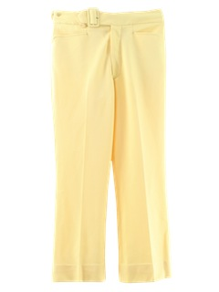 1970's Mens Flared Mod Golf Pants