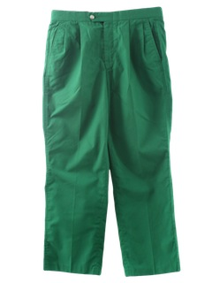 1980's Mens Christmas Green Totally 80s Golf Pants