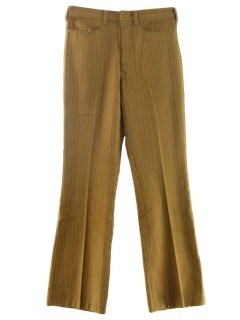 1970's Mens Flared Mod Jeans-cut Pants