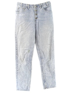 1980's Mens Designer Totally 80s Acid Washed Jeans Pants