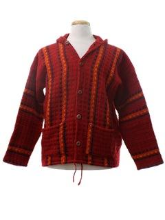 1980's Unisex Hippie Sweater Jacket