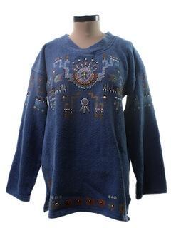 1980's Womens Baja Style Hippie Jacket