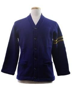 1960's Unisex Cardigan Sweater