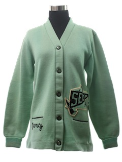 1950's Womens Lettermans Cardigan Sweater