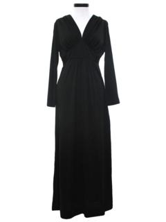 1970's Womens Maxi Disco Style Dress
