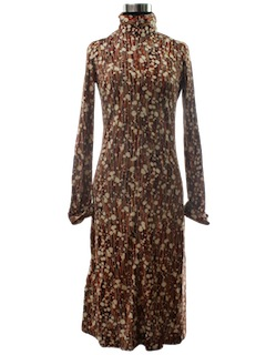 1970's Womens Designer Disco Dress