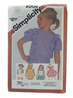 1980's Womens Childs Pattern