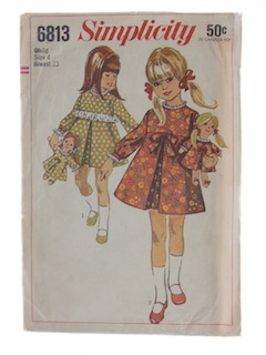 1960's Womens Childs and Doll Pattern