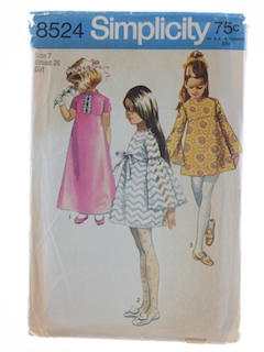 1960's Womens Girls Pattern