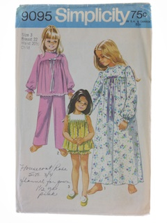 1970's Womens Childs Pattern