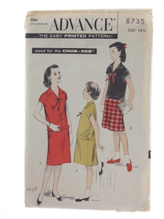 1950's Womens Girls Pattern