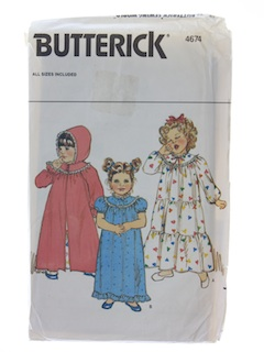 1980's Womens Baby Girls Pattern