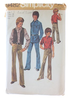 1970's Mens Boys Pattern