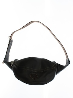 1990's Unisex Accessories - Wicked 90s Leather Fanny Pack