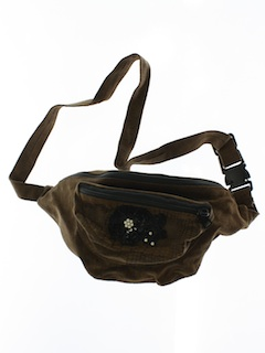 1990's Womens Accessories - Wicked 90s Leather Look Fanny Pack