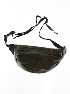 1990's Unisex Accessories - Leather Look (Vinyl) Fanny Pack
