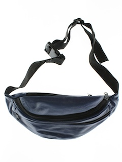 1990's Unisex Accessories - Wicked 90s Leather Look (Vinyl) Fanny Pack