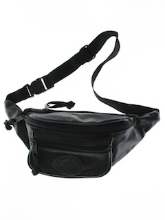 1990's Unisex Accessories - Wicked 90s Leather Look Fanny Pack